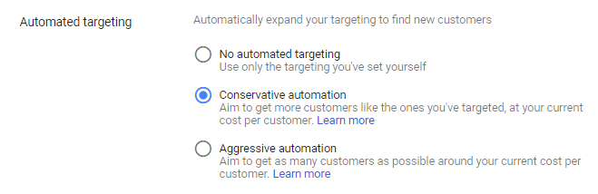 no automated targeting